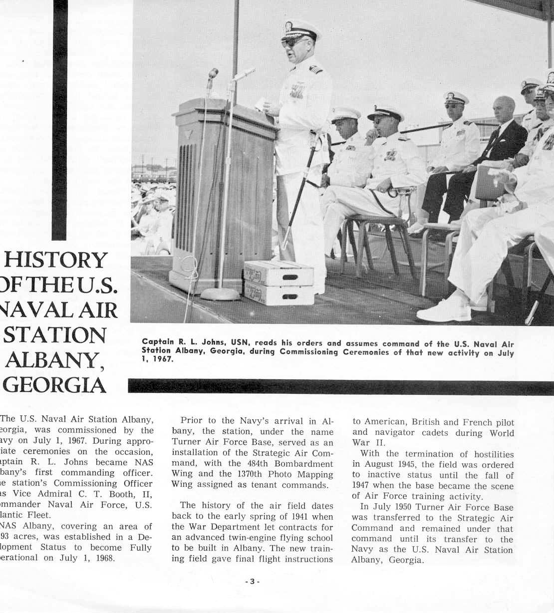 History of the US Naval Air Station in Albany